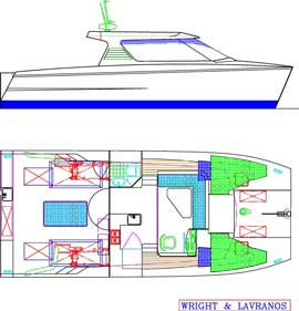 Motor boats stock plans - Boat plans, yacht design, kits from